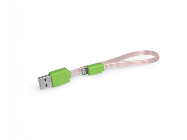 CABLE HAVIT USB PiPHONE 5 CON ILUMINACION, 25 CM