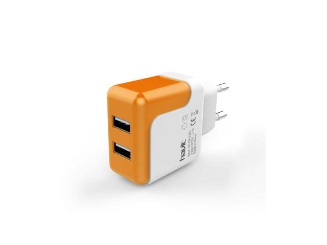 CARGADOR HAVIT CON 2 PUERTOS USB 2.1A