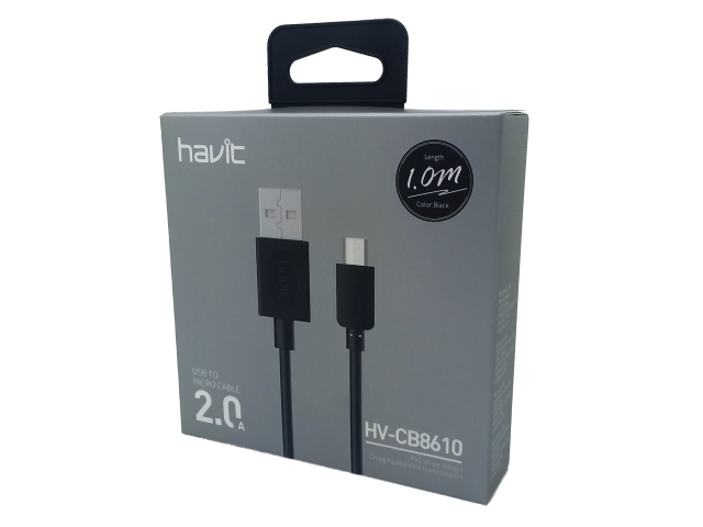 CABLE HAVIT USB A MICRO USB 1M DE LARGO