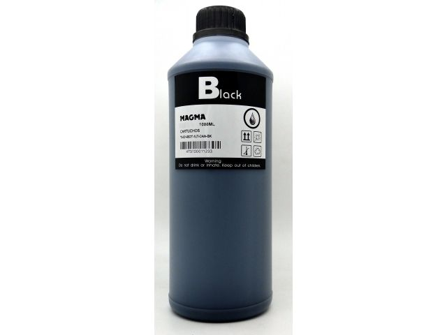 BOT. ORIGEN TINTA BK DE 1 LITRO PPLOTTER HP 130R, CARTRIDGE 5016, HP84 y HP85 BLACK