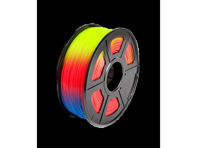 FILAMENTO PIMPRESORA 3D PLA DE 1.75 MM  1 KG COLOR CHANGE