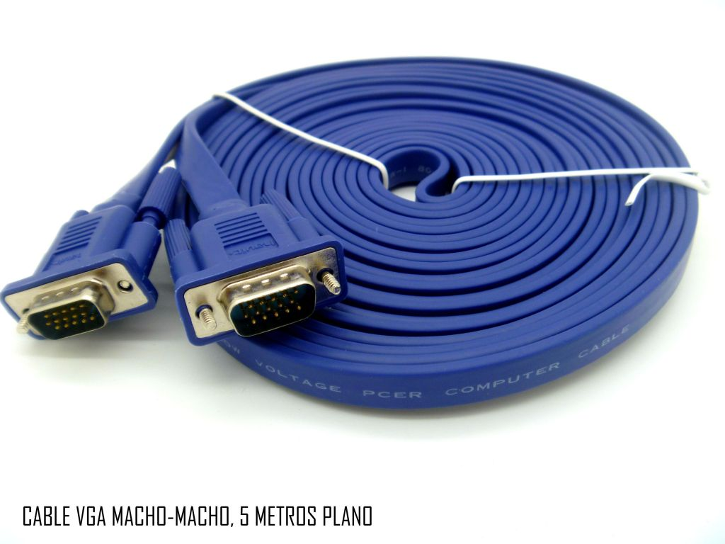 CABLE HAVIT 5M VGA MACHO MACHO CABLE 15 PINS PLANO