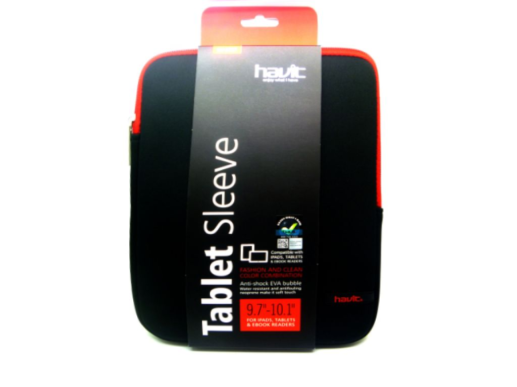 "FUNDA FLEXIBLE HAVIT PARA TABLET 9.7"" CON PROTECTOR DE VIBRACION"