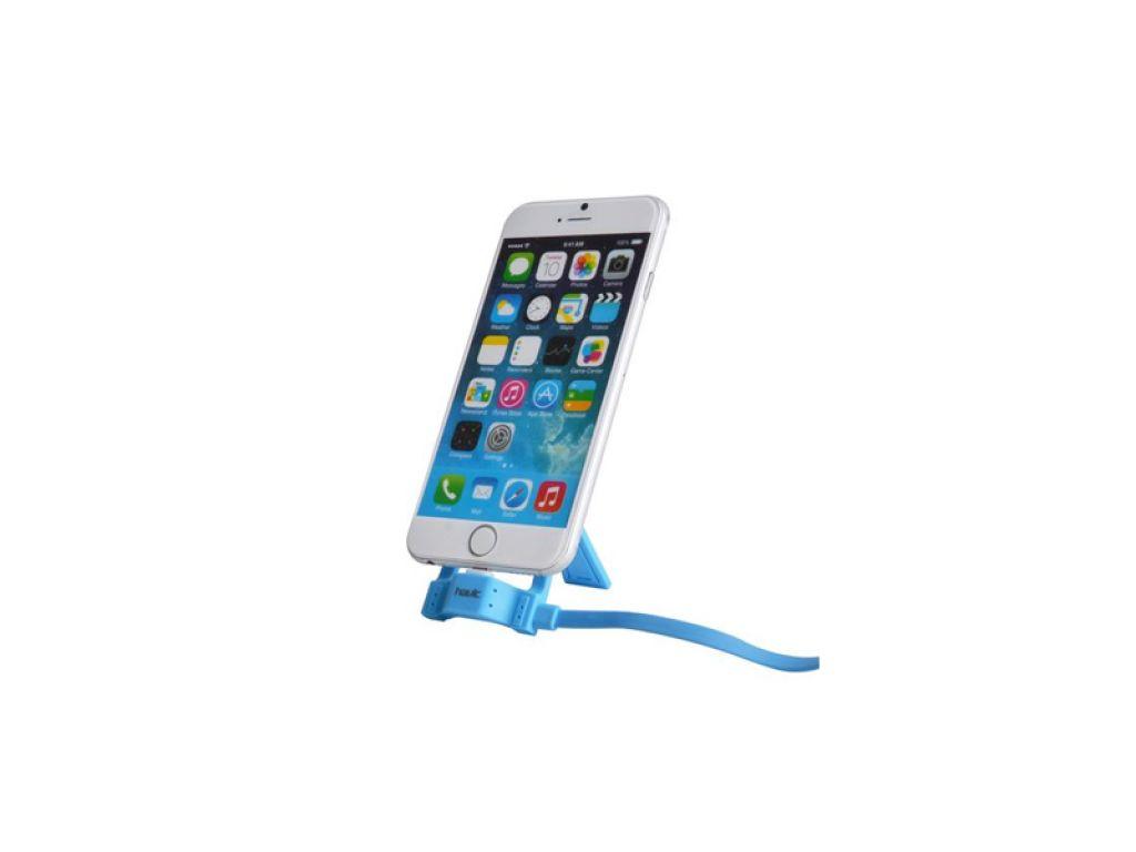 SOPORTE P/CELULAR CON CABLE 1M MICRO USB A USB