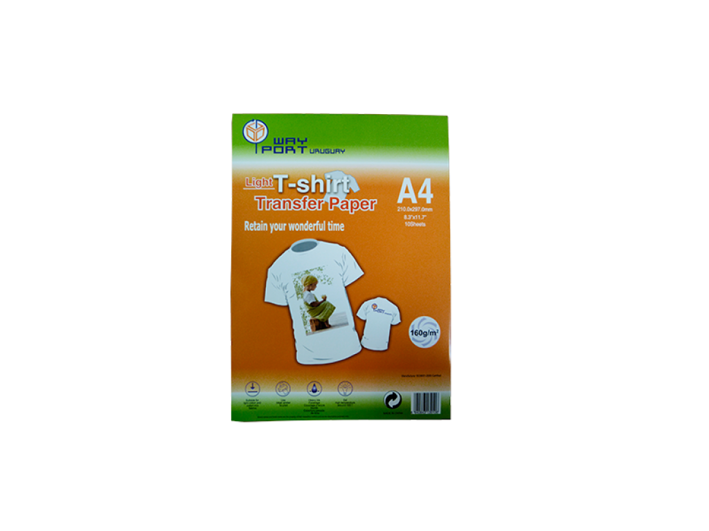 PAPEL WAYPORT TRANSFER LIGHT P/TINTAS SUBLIMACION A4 X 10