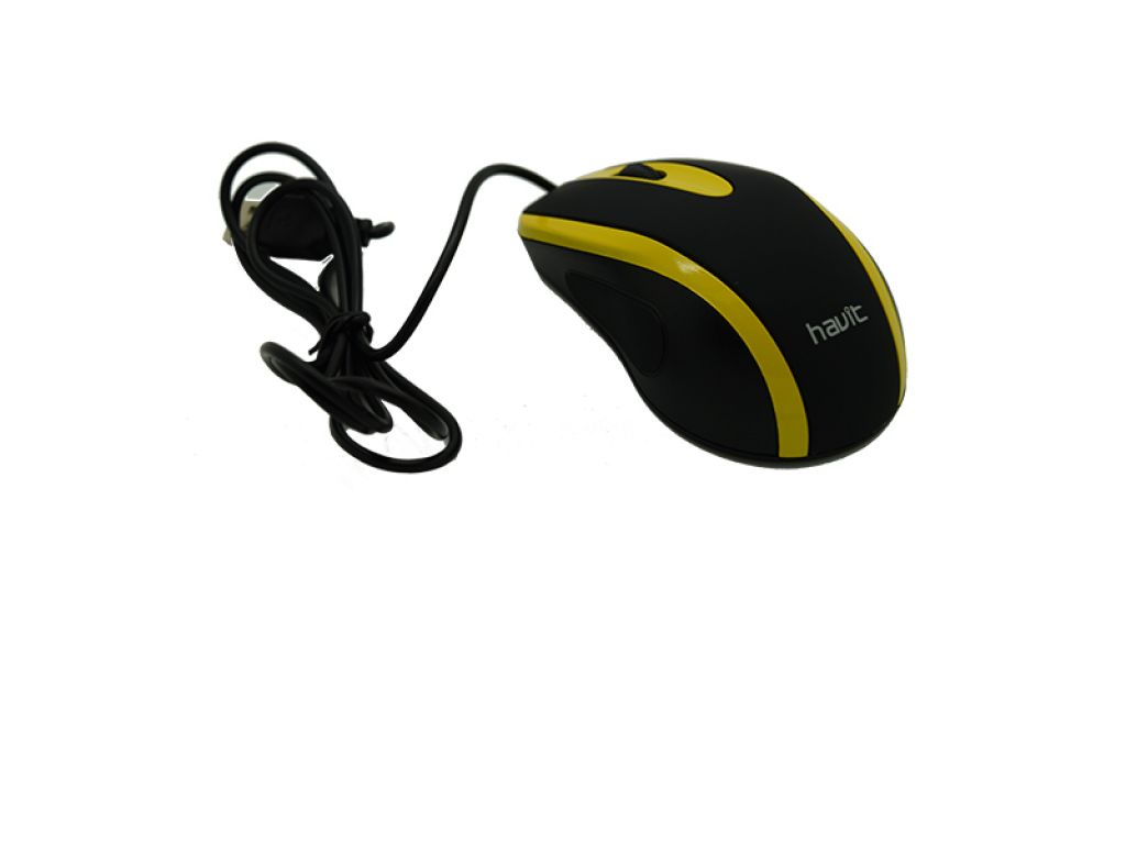 MOUSE HAVIT YELLOW 1000 DPI CABLE 1.35M