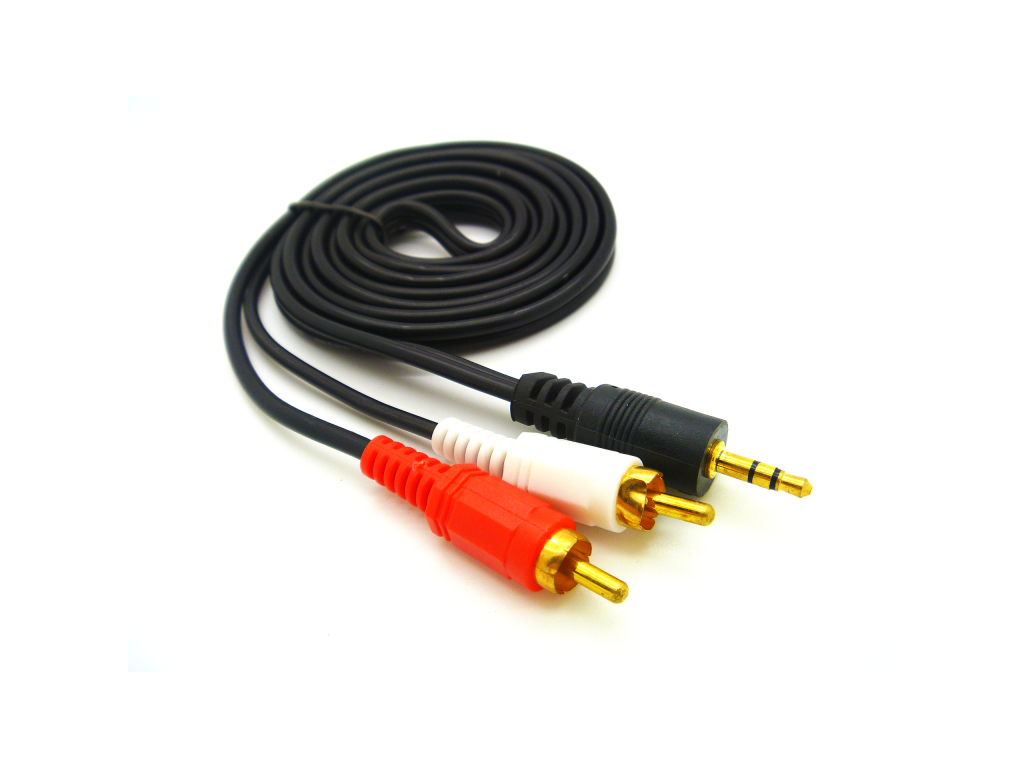 CABLE HAVIT 3M ST3.5M/2RCA AUDIO CABLE