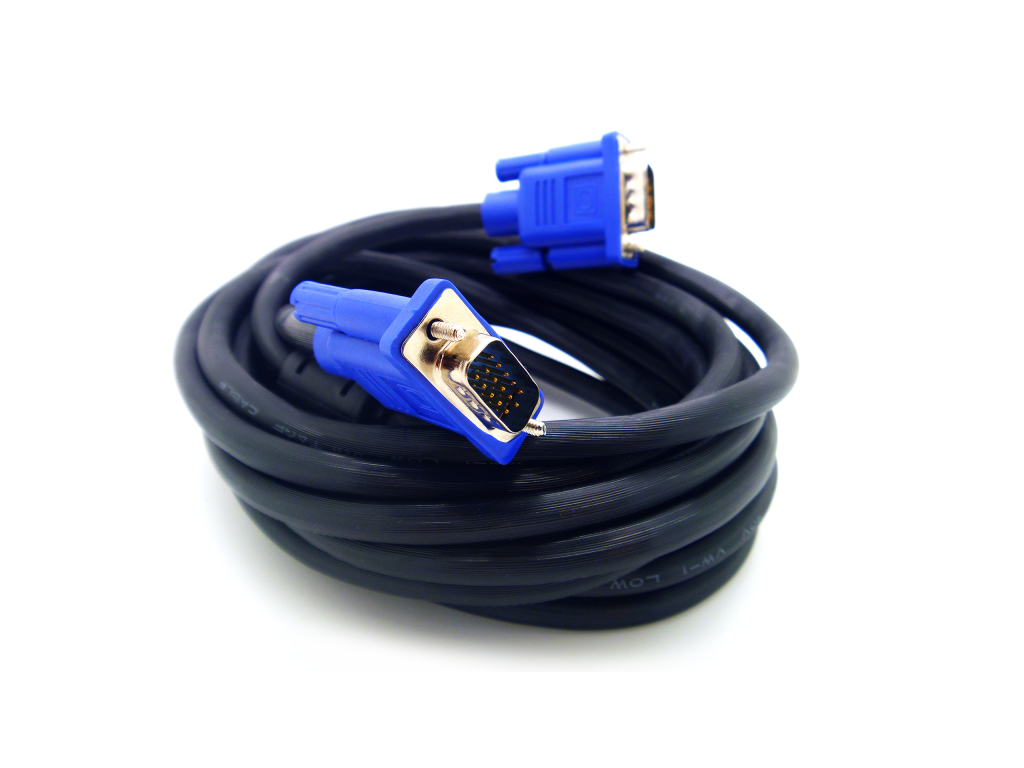 CABLE HAVIT 10M VGA MACHO MACHO DE 15 PINS
