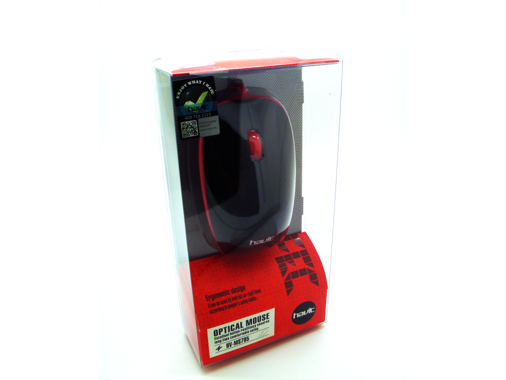 MOUSE HAVIT USB SLIM, 3 BOTONES, 1000 DPI