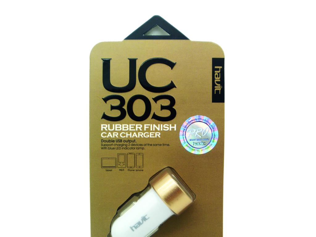 CARGADOR HAVIT USB PARA AUTOMOVIL