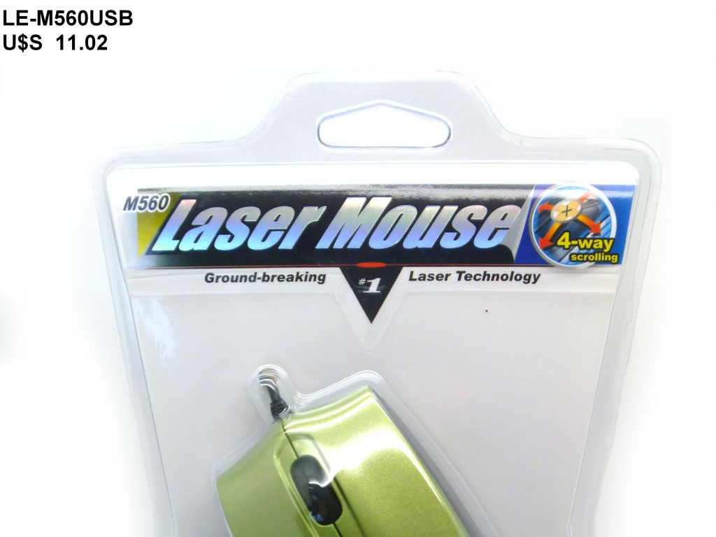 MINI MOUSE LASER USB, VERDE, EN BLISTER