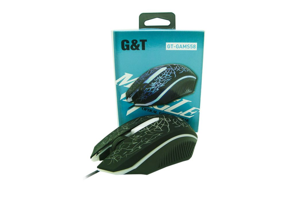 MOUSE GREENTREE USB GAMER ILUMINADO, 1200DPI
