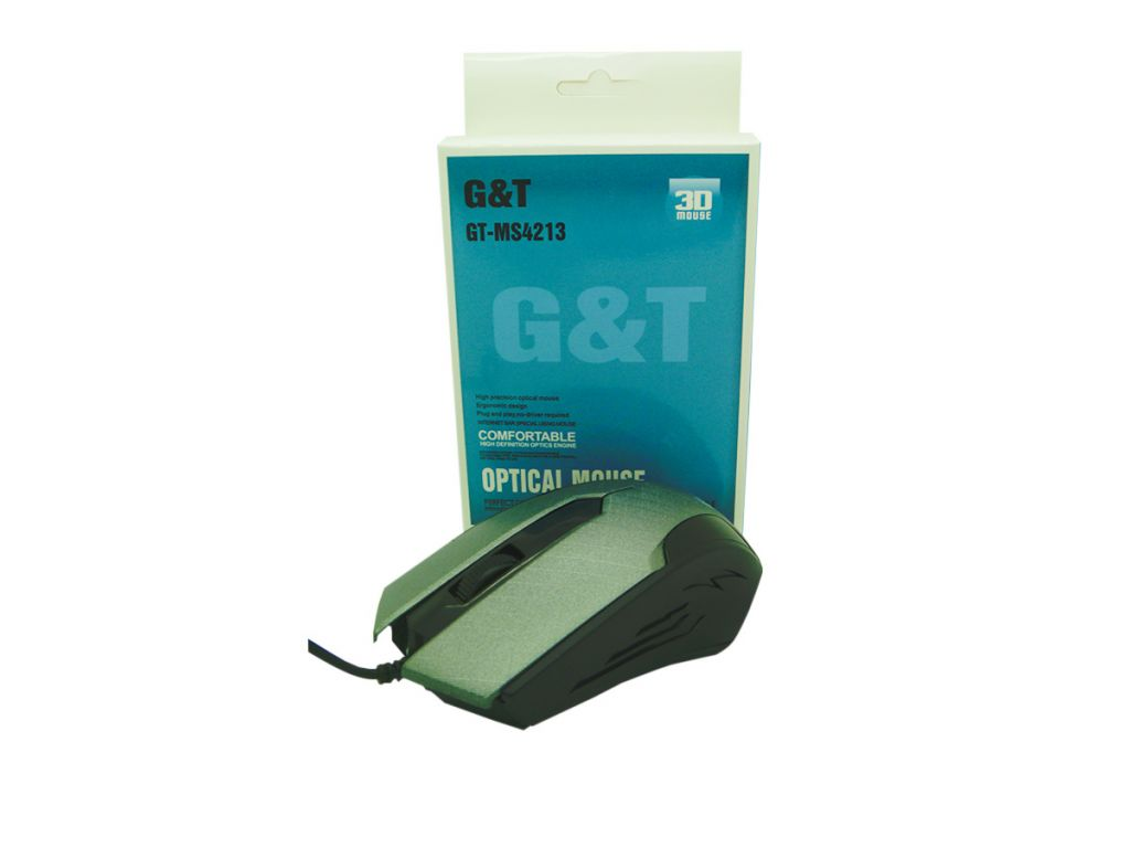MOUSE GREENTREE USB CABLE DE 1.35M, 1000DPI