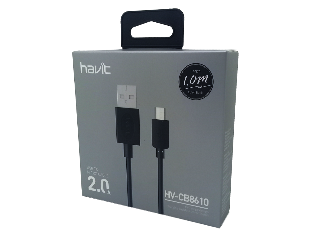 CABLE HAVIT USB A MICRO USB 1M DE LARGO