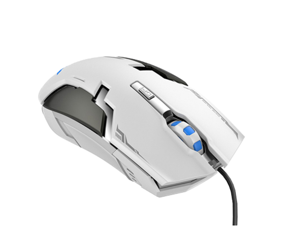 MOUSE HAVIT GAMER CON CABLE DE 1.5M, BLANCO