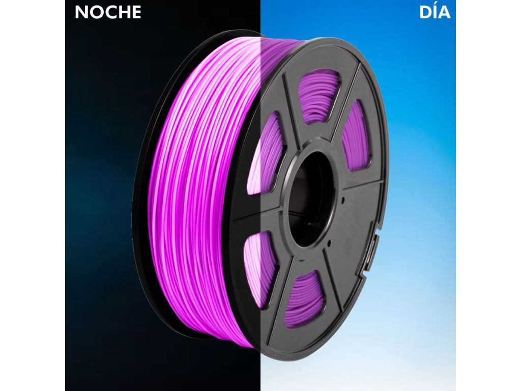 FILAMENTO LUMINOUS P/IMPRESORA 3D PLA DE 1.75 MM / 1 KG PURPLE