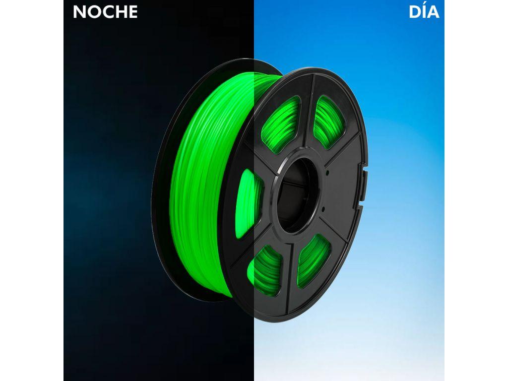 FILAMENTO P/IMPRESORA 3D PLA DE 3.00 MM / 1 KG GREEN (BRILLA EN LA OSCURIDAD)