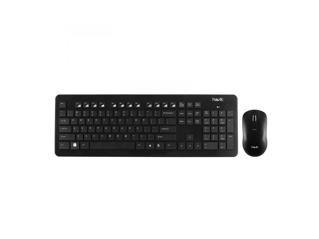SET HAVIT DE TECLADO Y MOUSE INALAMBRICOS USB MULTIMEDIA GAMER ILUMINADO