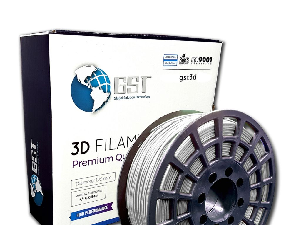 FILAMENTO P/IMPRESORA 3D PLASTICO DE 1.75 MM / 1KG SILVER