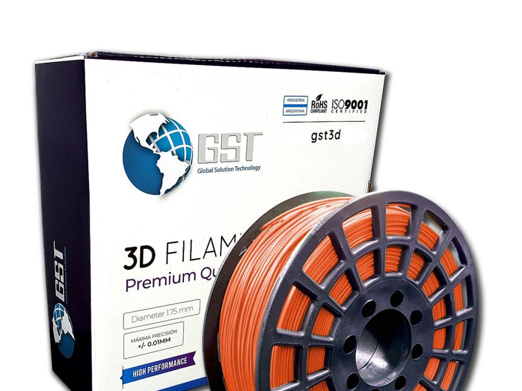 FILAMENTO P/IMPRESORA 3D PLASTICO DE 1.75 MM / 1KG ORANGE