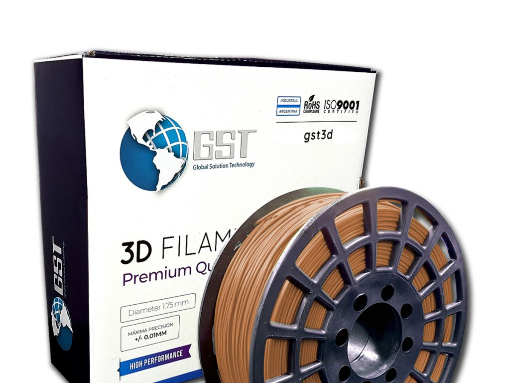 FILAMENTO P/IMPRESORA 3D PLASTICO DE 1.75MM / 1KG CHOCOLATE