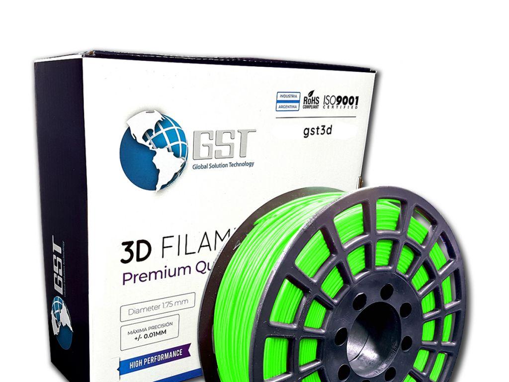 FILAMENTO P/IMPRESORA 3D PLASTICO DE 1.75MM / 1KG VERDE MANZANA