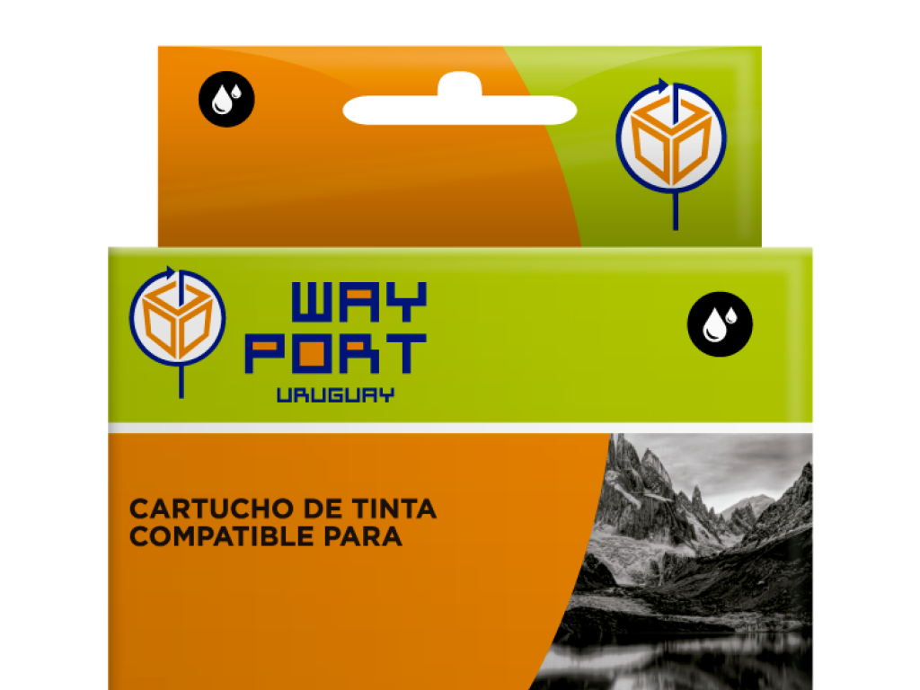 CART. WAYPORT BLACK P/EPSON T25 / TX 123 / TX 125 / TX 133 / TX 135